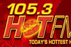 105 3 hot fm logo