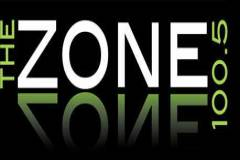 100.5 The Zone Logo